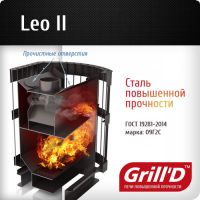 печь для бани Leo II 240 (Long black) GRILL'D, фото 3